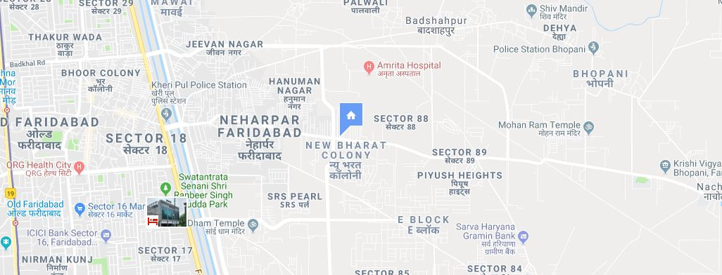 floridaa faridabad location map
